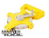 MasterTool  Рулетка геодезическая  50 м*13 мм, полотно из стекловолокна, Арт.: 66-5013