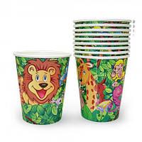 Бумажные стаканчики Джунгли (уп. 10 шт)