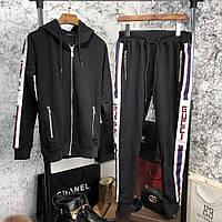 Спортивный костюм Gucci Side Bands 18787 черный, фото 1