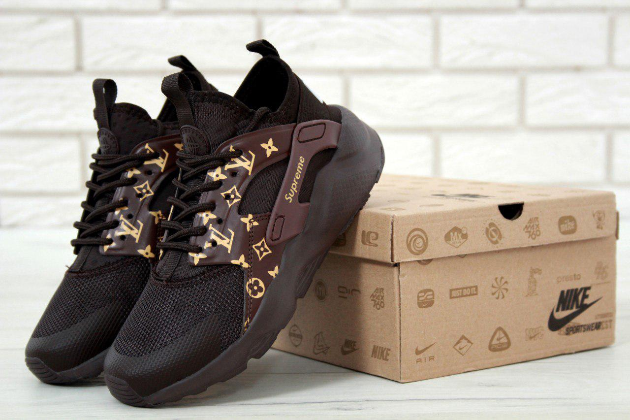 9d01012c Кроссовки Nike Air Huarache Supreme реплика ААА+ (натуральная кожа) размер  36-40 коричневый (живые фото)