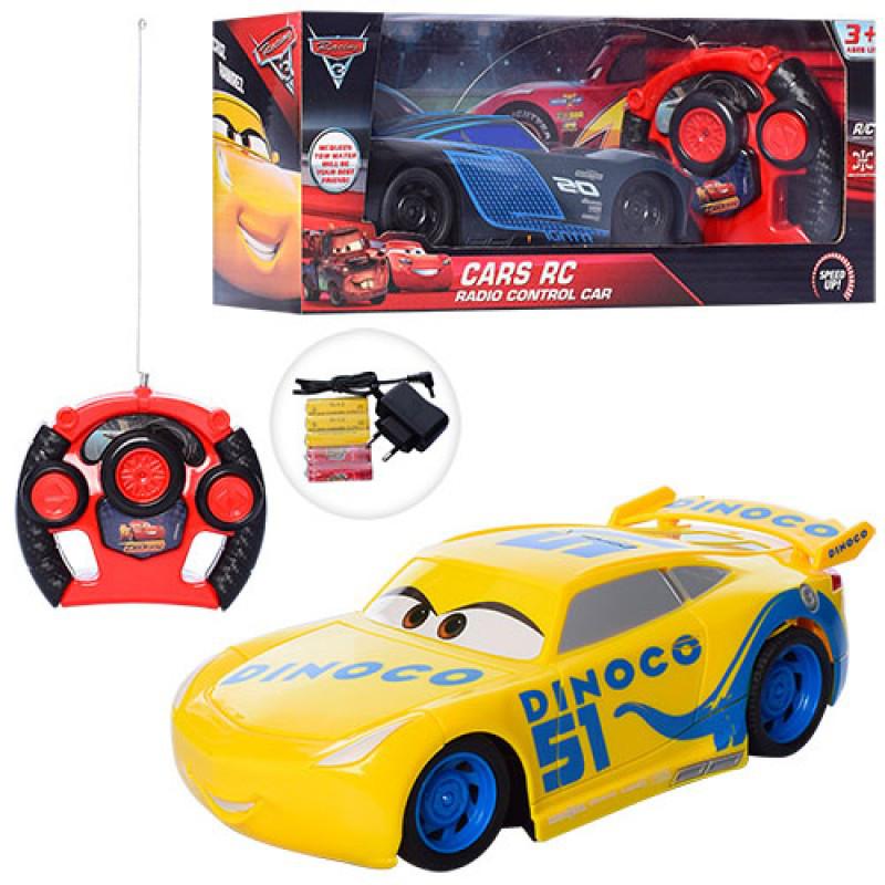 Машинка 6777-555-56 Тачки, р/у, 1:16, 21,5см, 2 види, на батарейці, в коробці, 31,5-13-13см