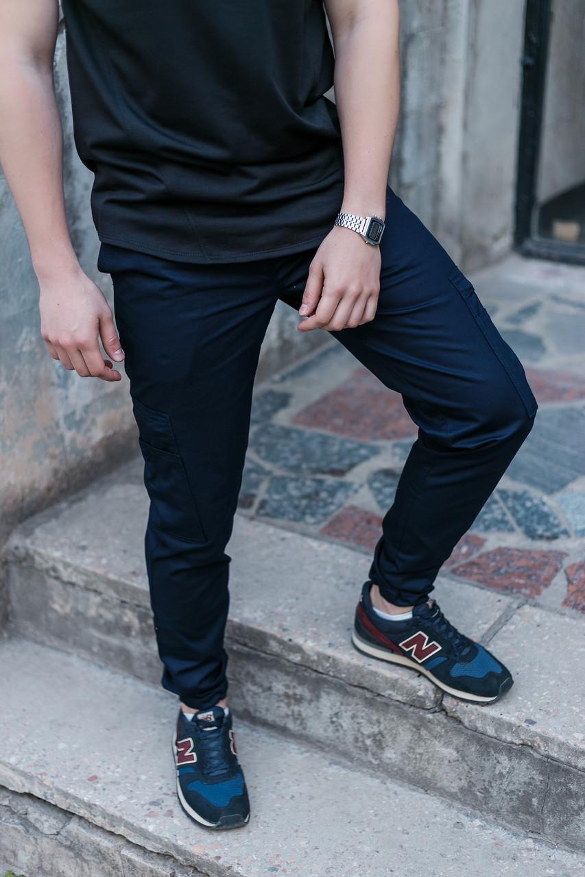 Карго брюки мужские темно-синие от бренда ТУР модель Титан (Titan) размер XL