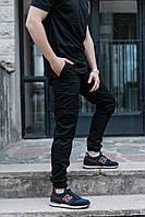 Мужские карго брюки ТУР Titan темно-синие S, черный