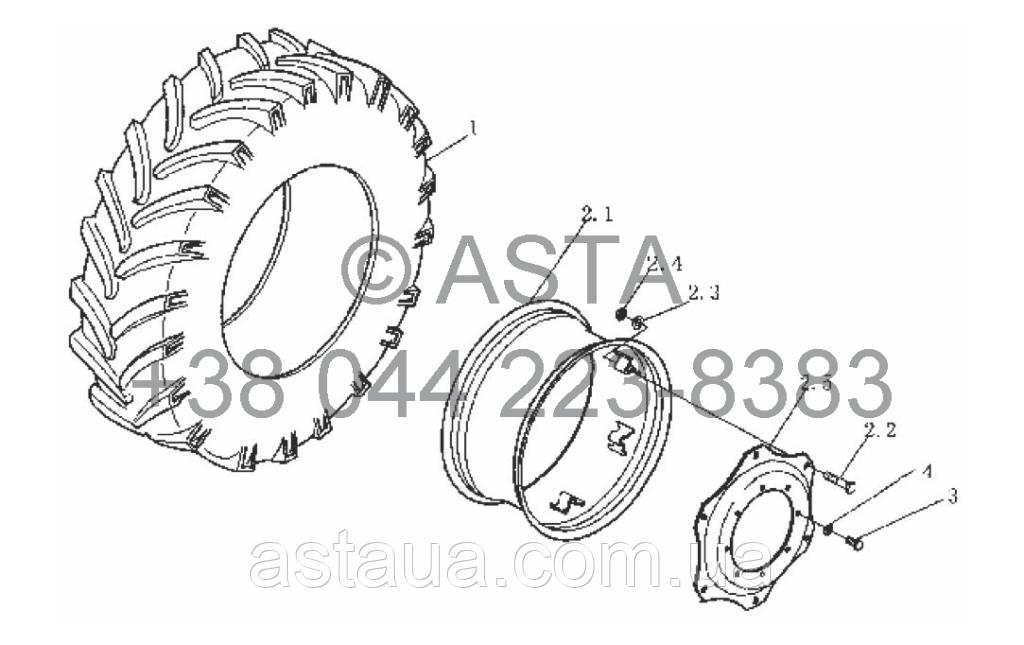 Передние колёса на YTO-X804