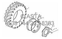 Передние колёса на YTO-X804, фото 1