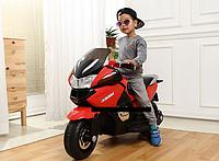 Детский мотоцикл электромобиль ST1000, на резиновых EVA колёсах+Кожаное сиденье, дитячий електромобіль мотоцил