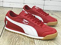 Кроссовки мужские Puma Roma D3404 красные
