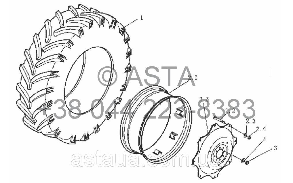 Задние колёса на YTO-X804