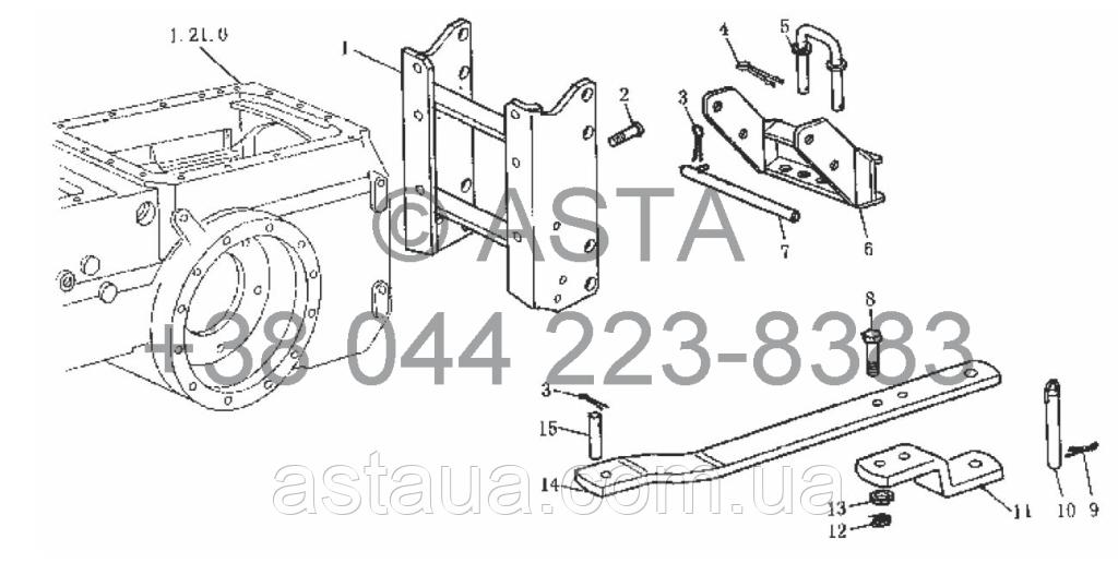 Устройство для буксировки (опционально) на YTO-X804