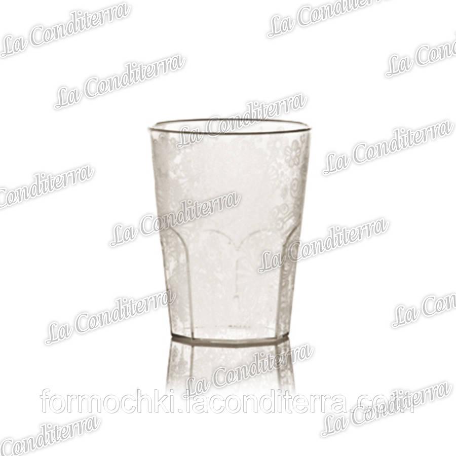 Пластиковый стакан с узором для напитков Polo Plast 359 (400 мл)
