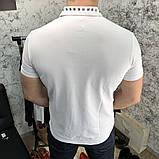Футболка-поло мужская Valentino Polo Rockstud 18766 белая, фото 2