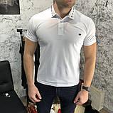 Футболка-поло мужская Valentino Polo Rockstud 18766 белая, фото 5