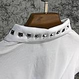 Футболка-поло мужская Valentino Polo Rockstud 18766 белая, фото 7