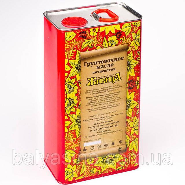Грунтовочное масло для древесины Антисептик Живица 5 Л