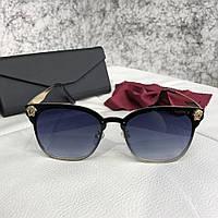 Очки Versace Sunglasses Cat-Eye 18688 Black-Dark Blue