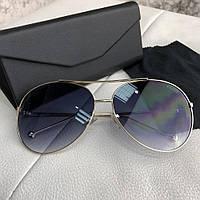 Очки Fendi Sunglasses Aviator 18693 Gold-Dark Blue