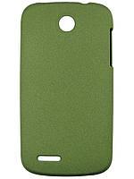 Пластиковый чехол для Lenovo A690 Зеленый