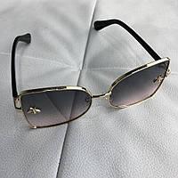 Очки Gucci Sunglasses Ellipse with Bee 18698 Gold-Gray f7e987645d26c