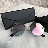 Очки Gucci Sunglasses Circle with Bee 18694 Gold-Pink