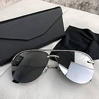 Очки Sunglasses Pilot Diamonds 18699 Silver-Gray