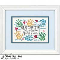 Набор для вышивания крестом Дедушке с бабушкой/Grandparets Touch a Heart DIMENSIONS 70-65011