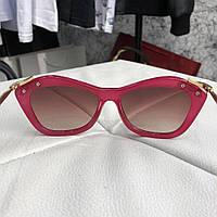 Очки Miu Miu Sunglasses Crystal 18709 Red-Bordo