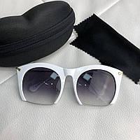Очки Miu Miu Sunglasses Rasoir 18710 White-Gray