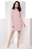 Стильное лёгкое платье-рубашка без рукавов классического кроя 7055/1, фото 1