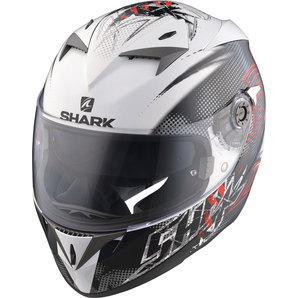 Шлем Shark S700 Finks р.L, черно-бело-красный