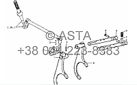 Механизм переключения передач на YTO-X804