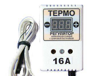 Терморегулятор цифровой ЦТР-3д в розетку 16А двухуровневый., фото 2