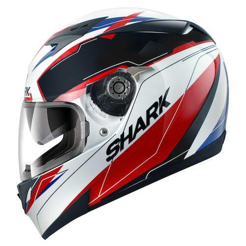 Шлем Shark S700 Lab р.L, черно-бело-красный