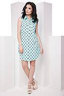 Стильное лёгкое платье-рубашка без рукавов классического кроя 7055/3, фото 1