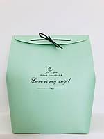 Коробка подарочная, мятная, 25х20х11 см