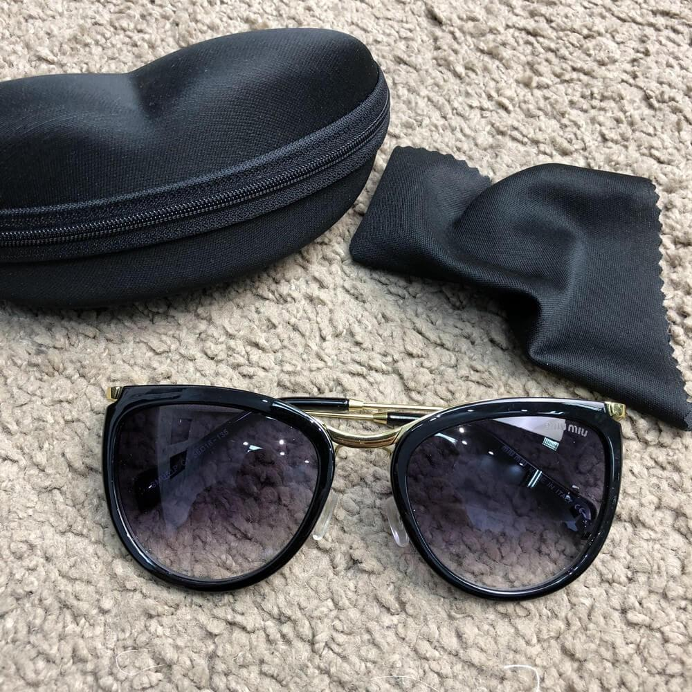 Очки Miu Miu Sunglasses Reveal 18716 Black-Black