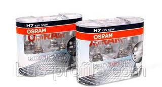 Автолампа H7 12V 55W PX26d Silverstar 2.0 +60% (К-кт 2шт.) — Osram — 64210 SV2 HCB DUO