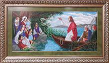 ІЧ. Схема для вишивки бісером  Ісус у човні.