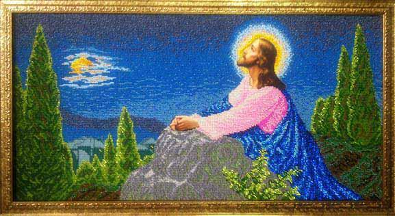 ІОГ. Схема для вишивки бісером Ісус на Оливній горі.