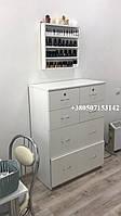 Высокий комод на 6 ящиков, тумба для дома, офиса, салона. Модель V223 цвет белый
