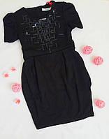 Платье школьное подростковое Deloras, размер 146, черный