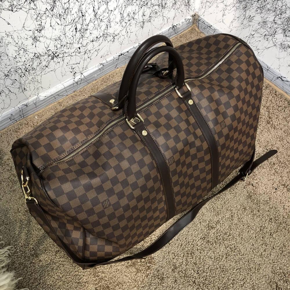68261e5649af Сумка Louis Vuitton Keepall 18743 темно-коричневая - купить по ...