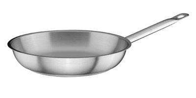 Сковорода из нержавейки для индукционной плиты HLS 32 см (7754Т)
