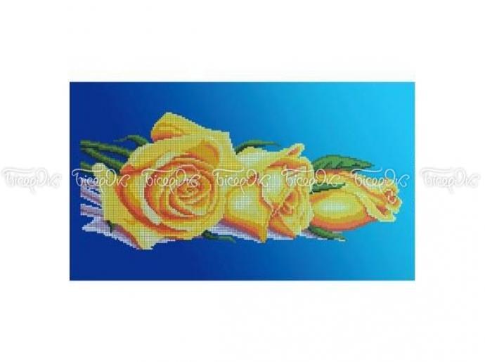 П-100 Схема вышивки бисером «Желтые розы» (30x50) 9656644d7e9a7