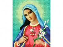 ЧВ-3106. Схема для вышивки бисером Серце Марии.