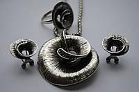 Комплект  Salvatore Ferragamo (серьги, подвес,кольцо)