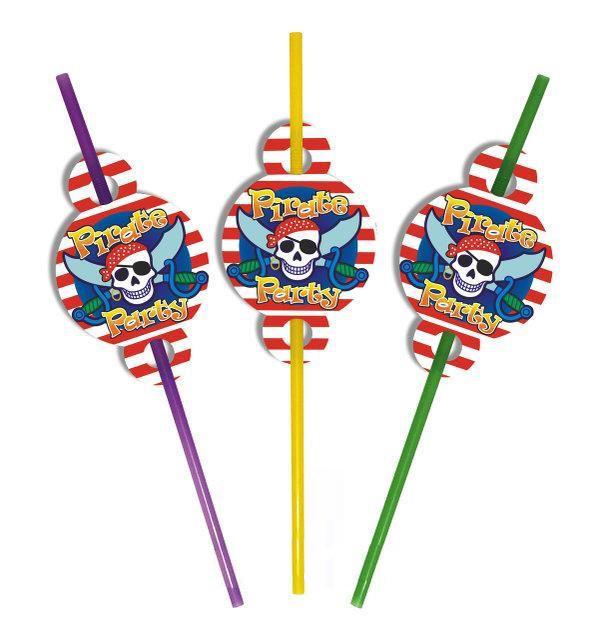 Трубочки Пираты (уп. 10 шт)