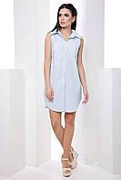 Стильне легке плаття-сорочка без рукавів класичного крою 7055/9, фото 1