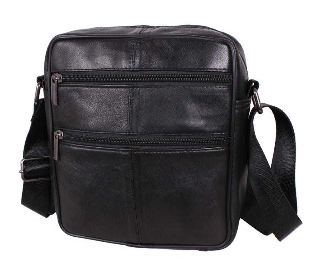 Мужская кожаная сумка SW7003 черная