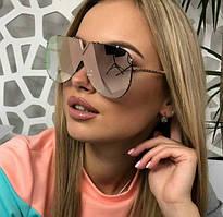 Женские солнцезащитные очки LV пудра зеркальные новинка 2018