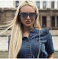 Женские солнцезащитные очки LV серые новинка 2018
